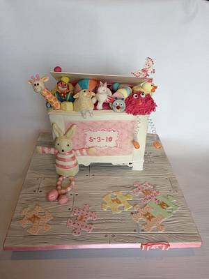 Twinkle and her Toy Box - Cake by Alanscakestocraft