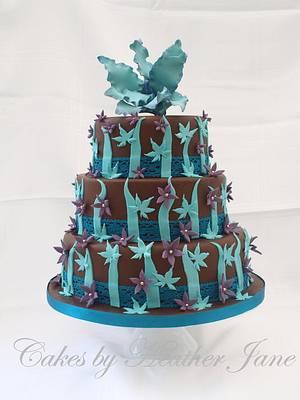 Chocolate fantasy wedding cake - Cake by Cakes By Heather Jane