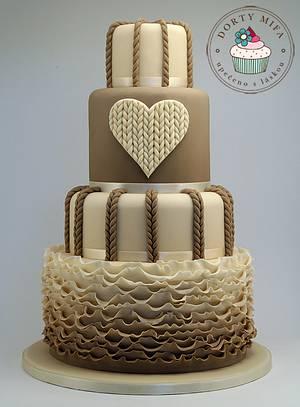 Knitted Wedding Cake  - Cake by Michaela Fajmanova