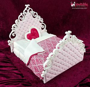 Valentines Bed Cake - Cake by Serdar Yener   Yeners Way - Cake Art Tutorials