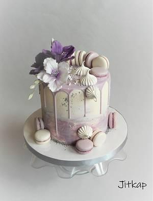 Birthday drip cake - Cake by Jitkap