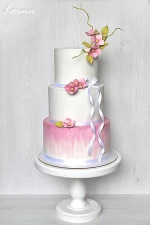 Pink Hydrangea - Cake by Lorna