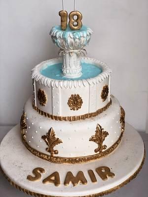 Pileta de agua greco romana - Cake by Desirée Brahim