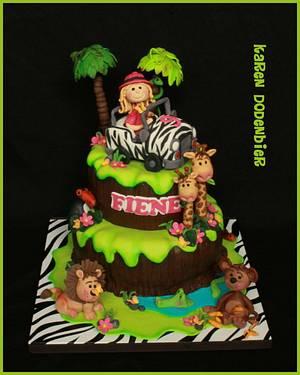 Safari cake voor a girl! - Cake by Karen Dodenbier
