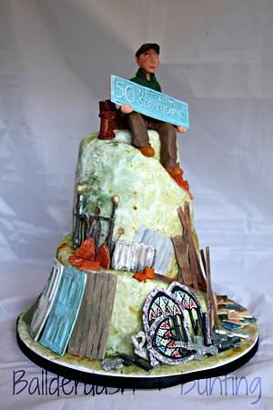 Scrapyard cake - Cake by Ballderdash & Bunting
