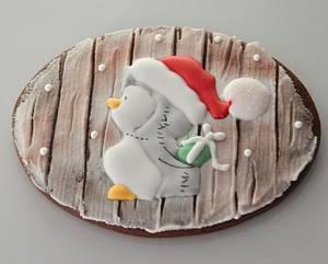 Xmas penguin's gift - Cake by B de Babar