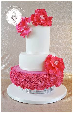 The Pink Peony Cake - Cake by Barbie Bakes Cakes