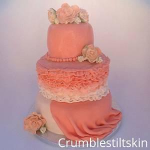 pink ruffle layer. - Cake by Wattkatiedid
