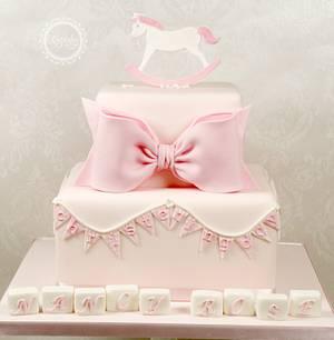 Rocking Horse Christening Cake - Cake by kingfisher