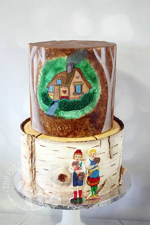 Hansel & Gretel Baby Shower Cake - Cake by The Cake Mom & Co.