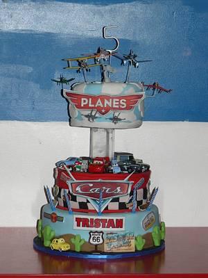 Disney Planes Vs Cars Cake  - Cake by Krazy Kupcakes