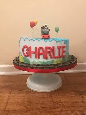 Gluten, nut, dairy free Thomas the Tank Cake - Cake by Charlotte