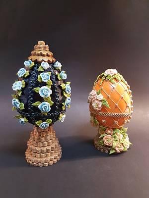 Huevos Fabergé colaboración huevos de pascua Fabergé  - Cake by Eva bella daucousse