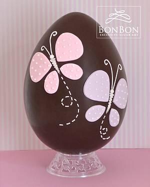 butterfly easter egg - Cake by bonbonsugarart