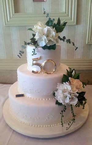 50th wedding anniversary cake - Cake by Chickadee Cakes - Sara