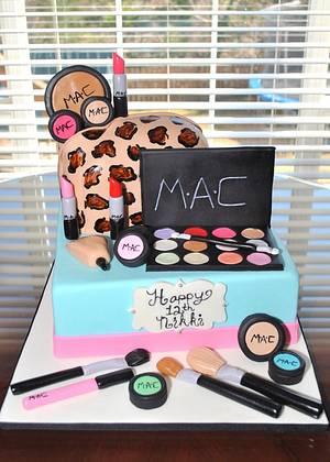 MAC Makeup Cake - Cake by Hope Crocker