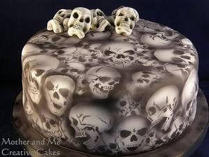 Skull Cake - Cake by Mother and Me Creative Cakes