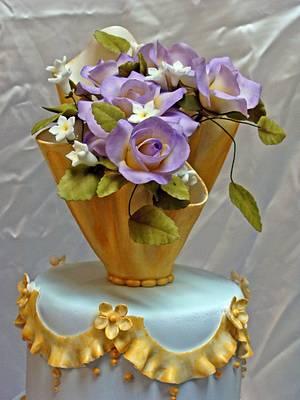 Purple Roses - Wedding cake  - Cake by Danielle