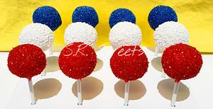 🎆4th of July cake pops🎆 - Cake by SRsweets