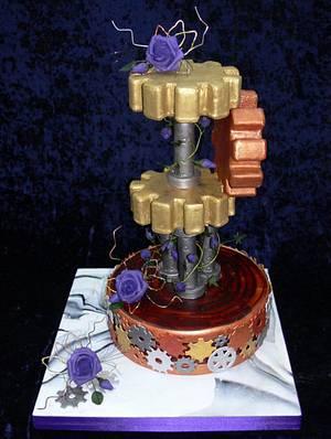Steampunk Cake - Cake by KathrynsCakes
