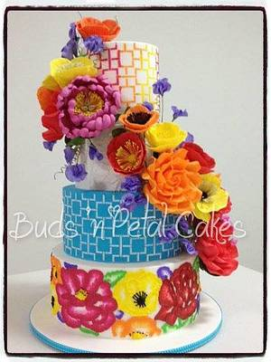 Kaleidescope of colour - Cake by Buds 'n Petal Cakes