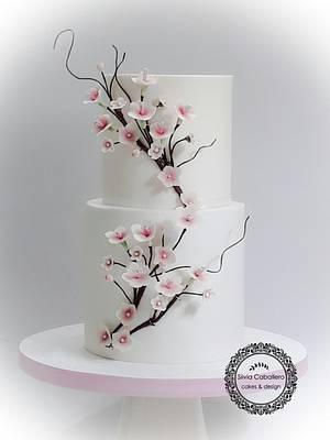 Cherry blossom cake! - Cake by Silvia Caballero