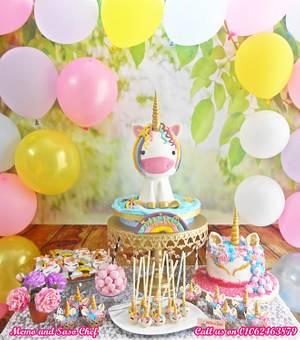 My birthday Unicorn candy bar🌈 - Cake by Mero Wageeh