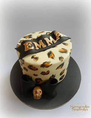 Leopard Print Rockabilly Cake - Cake by Spongecakes Suzebakes