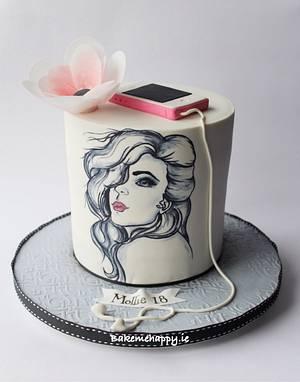 18th birthday cake - Cake by Elaine Boyle....bakemehappy.ie