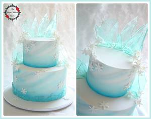 Frozen Theme Cake - Cake by My Sweet Dream Cakes