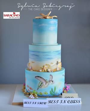 Ocean theme cake - Cake by Sylwia Sobiegraj The Cake Designer