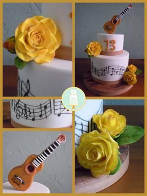 Guitar Cake - Cake by Sugar & Spice Cake Shop