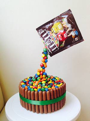 M&M's Gravity Cake - Cake by Donna Sanders