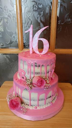 Pretty In Pink Sweet 16 - Cake by Enza - Sweet-E