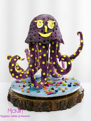 Happy Octo - CakerBuddiesCollaborationCake - Cake by Mavin