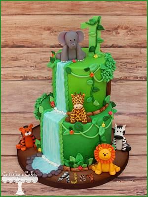 Safari Cake + Smash Cake  - Cake by Cuteology Cakes