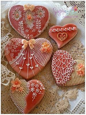Hearts - Cake by Tina Tsourtsoulas