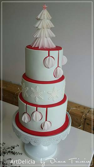 Wedding and Christmas Cake - Cake by Unique Cake's Boutique