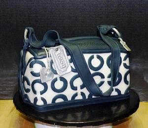 Navy Coach Purse - Cake by Sweets By Monica