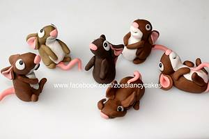 Mice ready for a cheese wedding cake - Cake by Zoe's Fancy Cakes