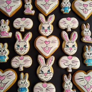 Easter bunnies - Cake by Dragana