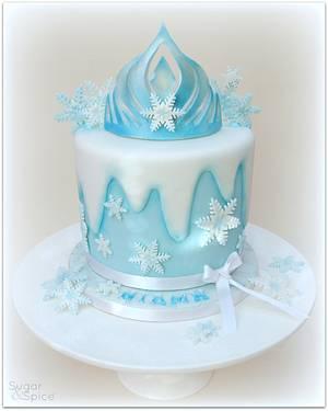 Elsa's Crown for Niamh - Cake by Sugargourmande Lou