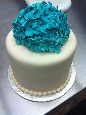 Blue birthday - Cake by JenStirk