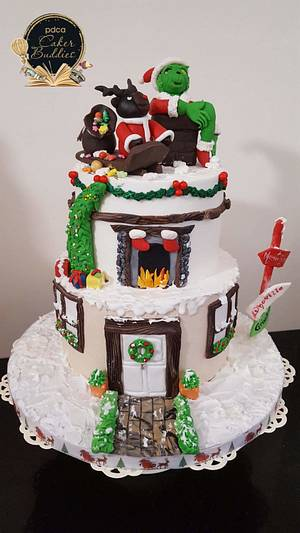Caker buddies Children's Storybook Collaboration- How the Grinch stole Christmas! - Cake by Santis