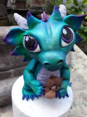 Baby dragon - Cake by Laura Reyes