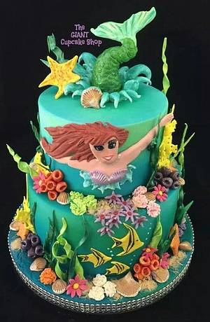 Little Mermaid - Cake by Amelia Rose Cake Studio