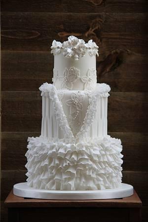 white wedding cake - Cake by beth