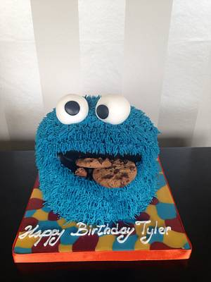 Cookie Monster cake - Cake by Cake Love