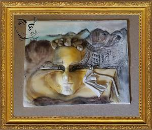 Dali in Sugar..Aparistions of fruit bowl on the sand. - Cake by Sue's Sweet Delights