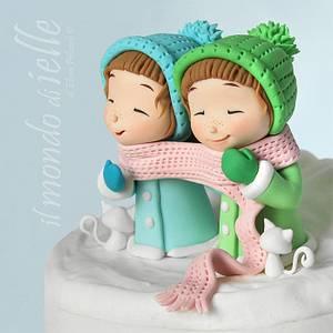 Winter Twins - Cake by il mondo di ielle
